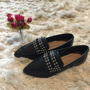 Spiked Black ASOS Loafers